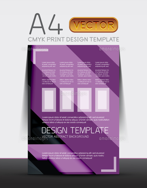 abstract modern flyer brochure vector design template with sample