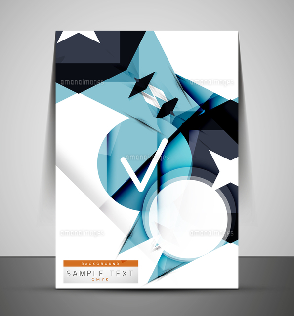 cmyk business corporate flyer template geometrical design