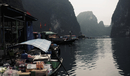 Market boats at Halong bay, Vietnam