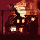 Illustrative image of house set on fire