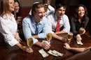 Businesspeople having drinks at bar