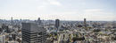 Southern view of Tokyo from Cerulean Tower in Shibuya with Infoss Tower in forground, Tokyo, Japan