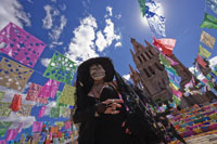 Woman Dressed Up for Day of the Dead 11030020287| 写真素材・ストックフォト・画像・イラスト素材|アマナイメージズ