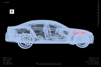 Illustration of conceptual image of x-ray of car for performing car failure diagnosis, studio shot on black background 11030043648| 写真素材・ストックフォト・画像・イラスト素材|アマナイメージズ