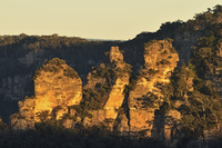 The Three Sisters, Blue Mountains National Park, Blue Mountains, UNESCO World Heritage Area, New South Wales, Australia 11030050088| 写真素材・ストックフォト・画像・イラスト素材|アマナイメージズ
