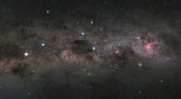The Southern Cross and the Pointers in the Milky Way. 11079013018| 写真素材・ストックフォト・画像・イラスト素材|アマナイメージズ