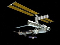Computer generated view of the International Space Station. 11079014009| 写真素材・ストックフォト・画像・イラスト素材|アマナイメージズ