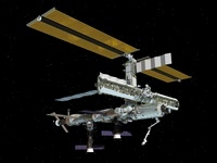 Computer generated view of the International Space Station. 11079014489| 写真素材・ストックフォト・画像・イラスト素材|アマナイメージズ
