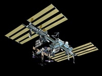Computer generated view of the International Space Station. 11079014494| 写真素材・ストックフォト・画像・イラスト素材|アマナイメージズ