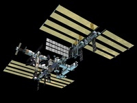 Computer generated view of the International Space Station. 11079014495| 写真素材・ストックフォト・画像・イラスト素材|アマナイメージズ