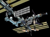 Computer generated view of the International Space Station. 11079014498| 写真素材・ストックフォト・画像・イラスト素材|アマナイメージズ