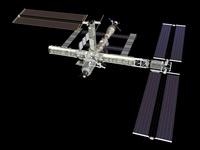 Computer generated view of the International Space Station. 11079014499| 写真素材・ストックフォト・画像・イラスト素材|アマナイメージズ