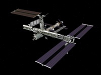 Computer generated view of the International Space Station. 11079014501| 写真素材・ストックフォト・画像・イラスト素材|アマナイメージズ