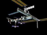 Computer generated view of the International Space Station. 11079014502| 写真素材・ストックフォト・画像・イラスト素材|アマナイメージズ