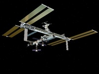 Computer generated view of the International Space Station. 11079014504| 写真素材・ストックフォト・画像・イラスト素材|アマナイメージズ