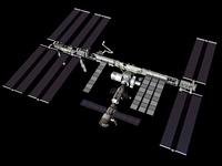 Computer generated view of the International Space Station. 11079014507| 写真素材・ストックフォト・画像・イラスト素材|アマナイメージズ