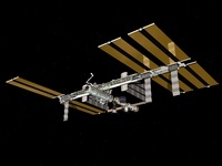 Computer generated view of the International Space Station. 11079014508| 写真素材・ストックフォト・画像・イラスト素材|アマナイメージズ