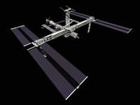 Computer generated view of the International Space Station. 11079020527| 写真素材・ストックフォト・画像・イラスト素材|アマナイメージズ