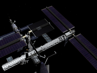 A graphic rendering of the International Space Station. 11079020568| 写真素材・ストックフォト・画像・イラスト素材|アマナイメージズ