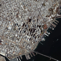An oblique-angle view of San Francisco's financial district. 11079020612| 写真素材・ストックフォト・画像・イラスト素材|アマナイメージズ