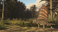 A group of Dimetrodon's hunting in a Permian era environment. 11079027898| 写真素材・ストックフォト・画像・イラスト素材|アマナイメージズ