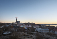 Sweden, West Coast, Lysekil, Scenic townscape at sunset 11090020467| 写真素材・ストックフォト・画像・イラスト素材|アマナイメージズ