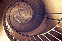 Spiral staircase inside Phare des Baleines lighthouse, Ile de Re, Poitou-Charentes, France 11098051127| 写真素材・ストックフォト・画像・イラスト素材|アマナイメージズ