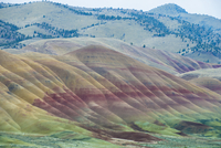 Scenic view of John Day Fossil Beds National Park 11100072070| 写真素材・ストックフォト・画像・イラスト素材|アマナイメージズ