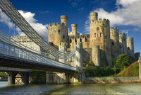 The medieval Conwy Castle, also Conway Castle, built 1283 - 11102000934| 写真素材・ストックフォト・画像・イラスト素材|アマナイメージズ
