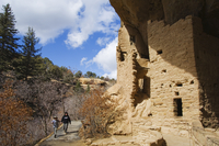 Spruce Tree House Ruins, Pueblo ruins in Mesa Verde containing some of the most elaborte Pueblo dwellings found today, Mesa Verd 11104008270| 写真素材・ストックフォト・画像・イラスト素材|アマナイメージズ