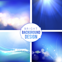 4 Bright Background Set. Blue smooth light lines backgrounds. Vector Illustration. 60016000797| 写真素材・ストックフォト・画像・イラスト素材|アマナイメージズ