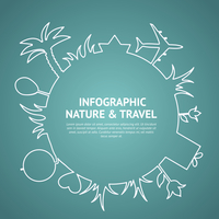Travel and tourism background and infographic. Vector illustration. 60016000844| 写真素材・ストックフォト・画像・イラスト素材|アマナイメージズ