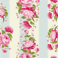 Luxurious flower wallapaper in wintage style. Vector illustration. 60016001616| 写真素材・ストックフォト・画像・イラスト素材|アマナイメージズ
