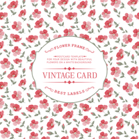 Vintage card with flowers on background. Vector illustration. 60016001636| 写真素材・ストックフォト・画像・イラスト素材|アマナイメージズ