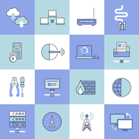 Network data security web technology flat line icons set isolated vector illustration 60016001758| 写真素材・ストックフォト・画像・イラスト素材|アマナイメージズ