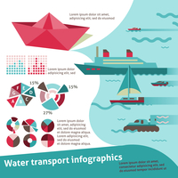 Water transport travel infographic set with sail ship yacht scooter vector illustration 60016001765| 写真素材・ストックフォト・画像・イラスト素材|アマナイメージズ