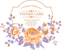 Luxurious color peony background with a vintage label. Vector illistration. 60016002421| 写真素材・ストックフォト・画像・イラスト素材|アマナイメージズ