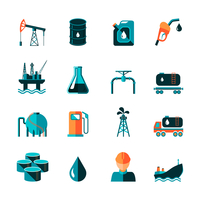 Oil industry gasoline processing symbols icons set in flat style with tanker truck petroleum can and pump isolated vector illust 60016002915| 写真素材・ストックフォト・画像・イラスト素材|アマナイメージズ