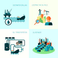 Oil industry business concept of gasoline diesel production fuel distribution and transportation four icons composition vector i 60016002916| 写真素材・ストックフォト・画像・イラスト素材|アマナイメージズ
