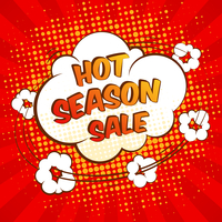 Hot season sale advertising promotion special offer speech bubble vector illustration 60016003061| 写真素材・ストックフォト・画像・イラスト素材|アマナイメージズ