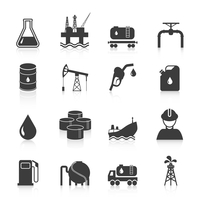 Oil industry gasoline processing symbols icons set with tanker truck petroleum can and pump isolated vector illustration 60016003095| 写真素材・ストックフォト・画像・イラスト素材|アマナイメージズ