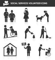 Social responsibility services and volunteer icons set black isolated vector illustration 60016003124| 写真素材・ストックフォト・画像・イラスト素材|アマナイメージズ
