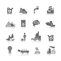 Thermal air and water toxic chemicals power plants hazardous pollution black abstract icons set isolated vector illustration 60016003151| 写真素材・ストックフォト・画像・イラスト素材|アマナイメージズ