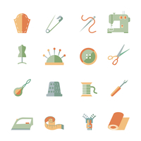 Sewing equipment and dressmaking accessories icons set flat isolated vector illustration 60016003280| 写真素材・ストックフォト・画像・イラスト素材|アマナイメージズ