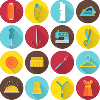 Sewing equipment and tailor needlework accessories icons with thread needle zipper isolated vector illustration 60016003324| 写真素材・ストックフォト・画像・イラスト素材|アマナイメージズ