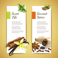 Gourmet spices sweet life vertical banners set isolated vector illustration 60016003357| 写真素材・ストックフォト・画像・イラスト素材|アマナイメージズ