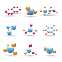 3d atomic structure chemical molecule models isolated vector illustration 60016003367| 写真素材・ストックフォト・画像・イラスト素材|アマナイメージズ