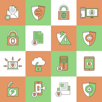 Business document and files protection technology and online network security icons set line flat vector illustration 60016003605| 写真素材・ストックフォト・画像・イラスト素材|アマナイメージズ