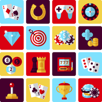 Casino smart and video games icons set with gambling poker roulette isolated vector illustration 60016003805| 写真素材・ストックフォト・画像・イラスト素材|アマナイメージズ