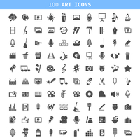 Collection of icons all art forms. A vector illustration 60016004115| 写真素材・ストックフォト・画像・イラスト素材|アマナイメージズ